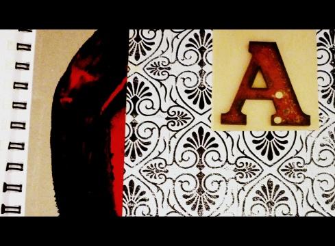 christmas alphabet A