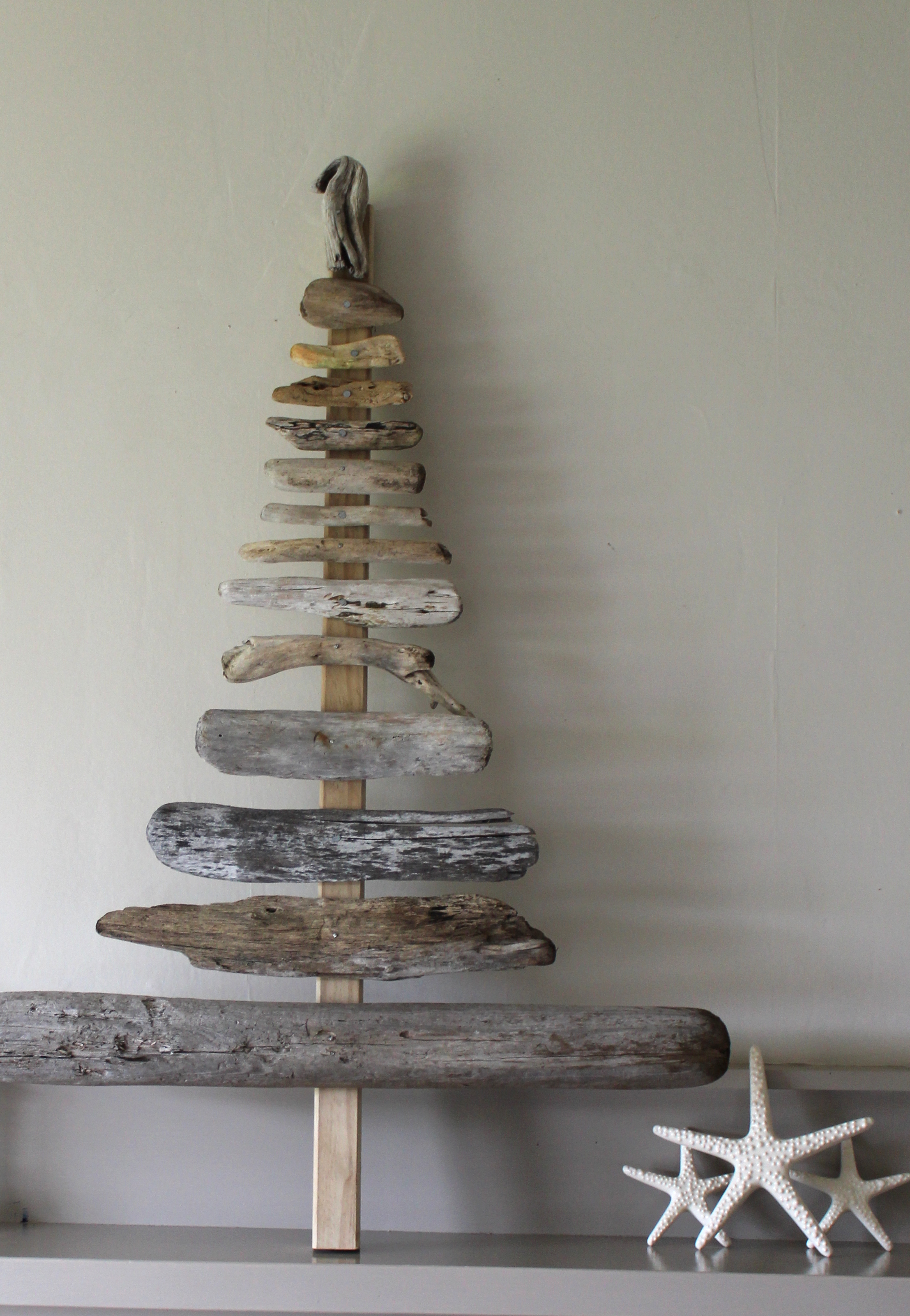 Getting in the spirit black box art studio for How to make a hanging driftwood christmas tree