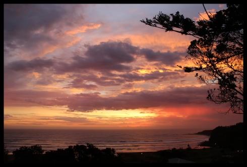 Boxing day sunset in opunake