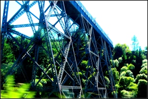 steel railway bridge